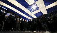 Ciudadanos que apoyan Tsipras realizaron una manifestación pidiendo soluciones. Foto: Reuters