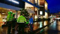 Explosión en un shopping de Bogotá. Foto: El Tiempo.