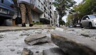 El costo por la reparación durante 2017 será de $ 1.600 pesos el metro cuadrado. Foto: M. Bonjour
