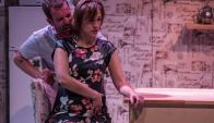 Saffores y Frugone en un mano a mano actoral. Foto: A. Perischetti