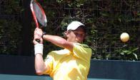 Avanzó. Santiago Maresca ganó en singles y en dobles. Foto: Darwin Borrelli