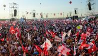 Un millón y medio de personas se concentraron para recibir a Kiliçdaroglu. Foto: AFP