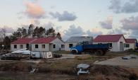 El tornado destruyó el trabajo de meses de obra. Foto: Noelia Franco