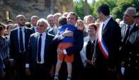 Emmanuel Macron, presidente de Francia, en Oradour-sur-Glane. Foto: Reuters.