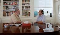 Jorge Lanata y Facundo Ponce de León (Captura tv)