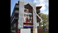 Mural en homenaje a Johan Cryuff en la ciudad de Ámsterdam. Foto: Prensa Ajax