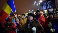 Más de 30.000 personas salieron ayer a la calle en la capital. Foto: AFP