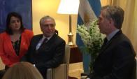 Macri y Temer reunidos en Buenos Aires. Foto: Casa Rosada