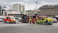 Apuñalados en Finlandia. Foto: AFP.