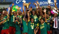 Indomables. Así son los leones de Camerún, y campeones. Foto: Reuters