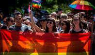 En las calles de Belgrado se celebró el Día del Orgullo Gay con una manifestación. Foto: AFP.