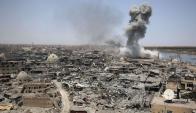 Mosul está devastada tras meses de guerra contra los yihadistas. Foto. AFP