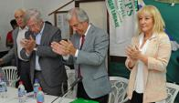 El presidente y alguno de sus ministros visitaron Juan Lacaze en la tarde de ayer. Foto: Presidencia