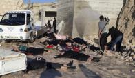 El 4 de abril al menos 87 personas murieron en un ataque con armas químicas. Foto: AFP