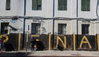 El muro lateral de la Iglesia de los Capuchinos ha sido varias veces pintado. Foto: Fernando Ponzetto