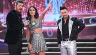Naiara Awada con Marcelo Tinelli y Jorge Moliniers (Ideas del Sur)