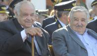 El expresidente Mujica y el fallecido Eleuterio Fernández Huidobro. Foto: Archivo El País