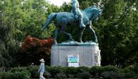 Estatua: la imagen del general Robert Lee en Charlottesville. Foto: Reuters