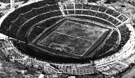 La evolución del Estadio Centenario. Foto: Archivo El País.