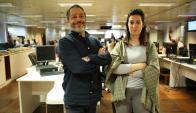 Otro Capitulo con Fabián Muro y Belén Fourment. Foto: Florencia Barré