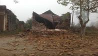 La centenaria parroquia se derrumbó en mayo de 2016. Foto: N. Araújo