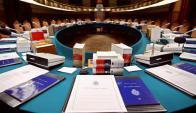 Sala de reuniones de la Real Academia Española en Madrid. Foto: AFP