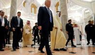 Trump: ayer domingo en Riad, capital de Arabia Saudita. Foto: Reuters