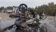 El conductor no sufrió lesiones graves. Foto: Lazaro Antunez