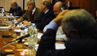 Gonzalo Mujica y los blancos. Foto: F. Ponzetto