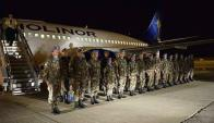 Regreso del primer contingente de Haití. Foto: Ejército Nacional