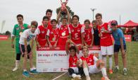 Niños del colegio Crandon, ganadores del Campeonato Infantil Scotiabank.