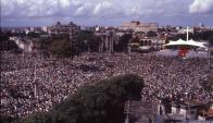 Montevideo: la zona de Tres Cruces fue invadida por 300.000 personas. Foto: archivo El País