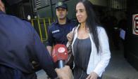 La jueza tiene custodia desde hace tres semanas, cuando fue amenazada. Foto: L.Carreño.