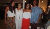 Nicole Arrosa, Margara Shaw, Martina Arrosa, Francisco Vargas.