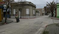 Esquina: en este lugar fue asesinada a balazos Susana Odriozola. Foto: M. Bonjour