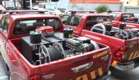 Bomberos contará con 5 nuevas camionetas 4x4. Foto: Ministerio del Interior