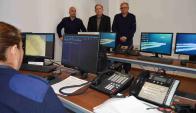 Autoridades de la Jefatura de Río Negro en el centro de monitoreo. Foto: D. Rojas