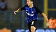 Matías Vecino hizo su debut con al camiseta del Inter de Milan.