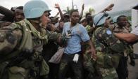 El próximo sábado terminará la misión de paz del Ejército en Haití. Foto: AFP