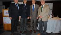 Jorge Vidal, Gonzalo Mujica, Embajador del Reino Unido Ian Duddy, Santiago Pereira.
