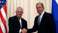 Sergei Lavrov junto a State Rex Tillerson. Foto: Reuters