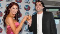 Pamela David y el Piñe en 2010 Jugá! (Foto: archivo)