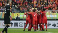 Chile se coronó en la China Cup tras vencer a Islandia. Foto: EFE