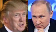 Putin y Trump. Foto: AFP