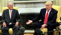 Trump recibió al presidente peruano, Pedro Pablo Kuczynski. Foto: Reuters