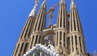 Sagrada familia. La icónica iglesia es uno de los máximos atractivos turísticos de la ciudad.