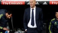 Zinedine Zidane en su debut como entrenador. Foto: EFE