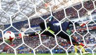 Timo Werner puso el 2-0 a favor de Alemania con una pelota bien colocada. Foto: Reuters