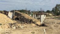 Fraile Muerto: Las lluvias ingresan por los terraplenes que se construyen. Foto: N. Araújo
