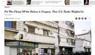 El artículo del New York Times sobre la marihuana en Uruguay. Foto: Captura.